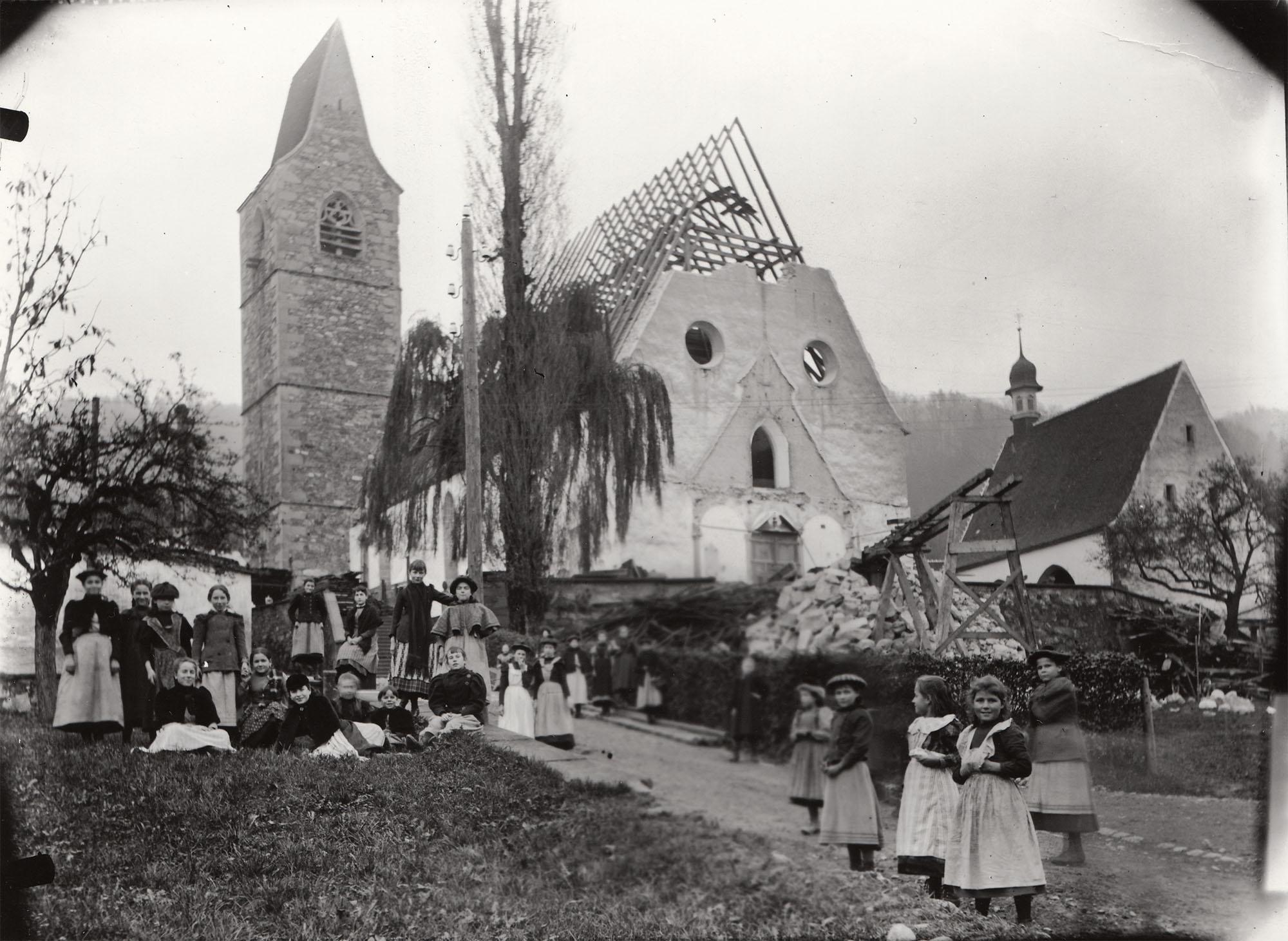 Abbruch der alten Kirche St. Michael