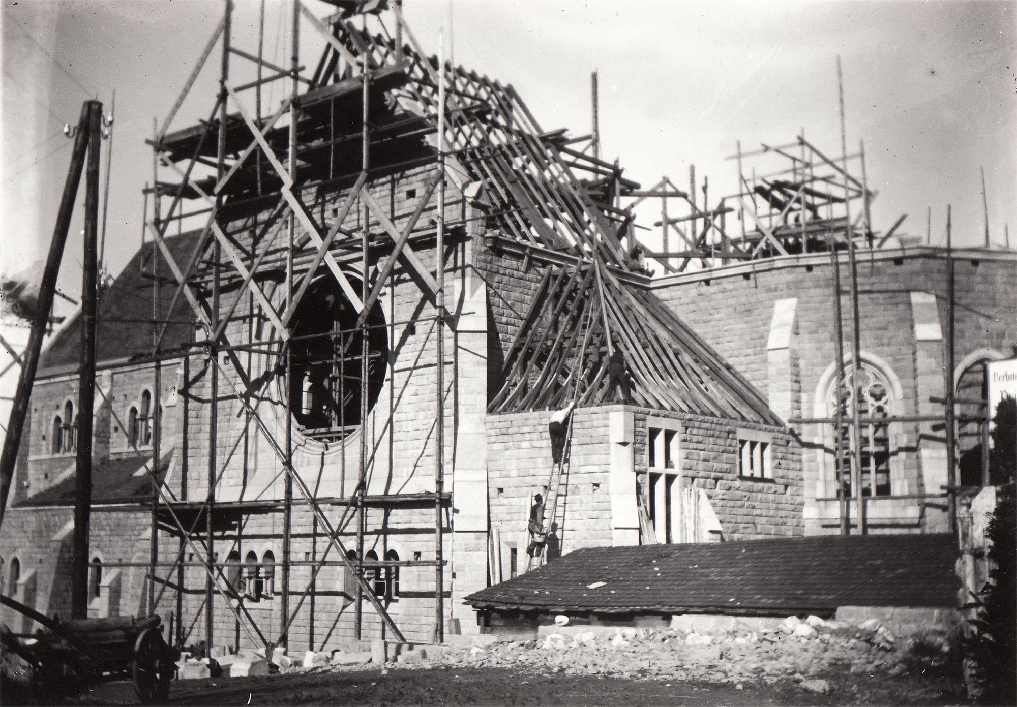 Bau der neuen Kirche St. Michael