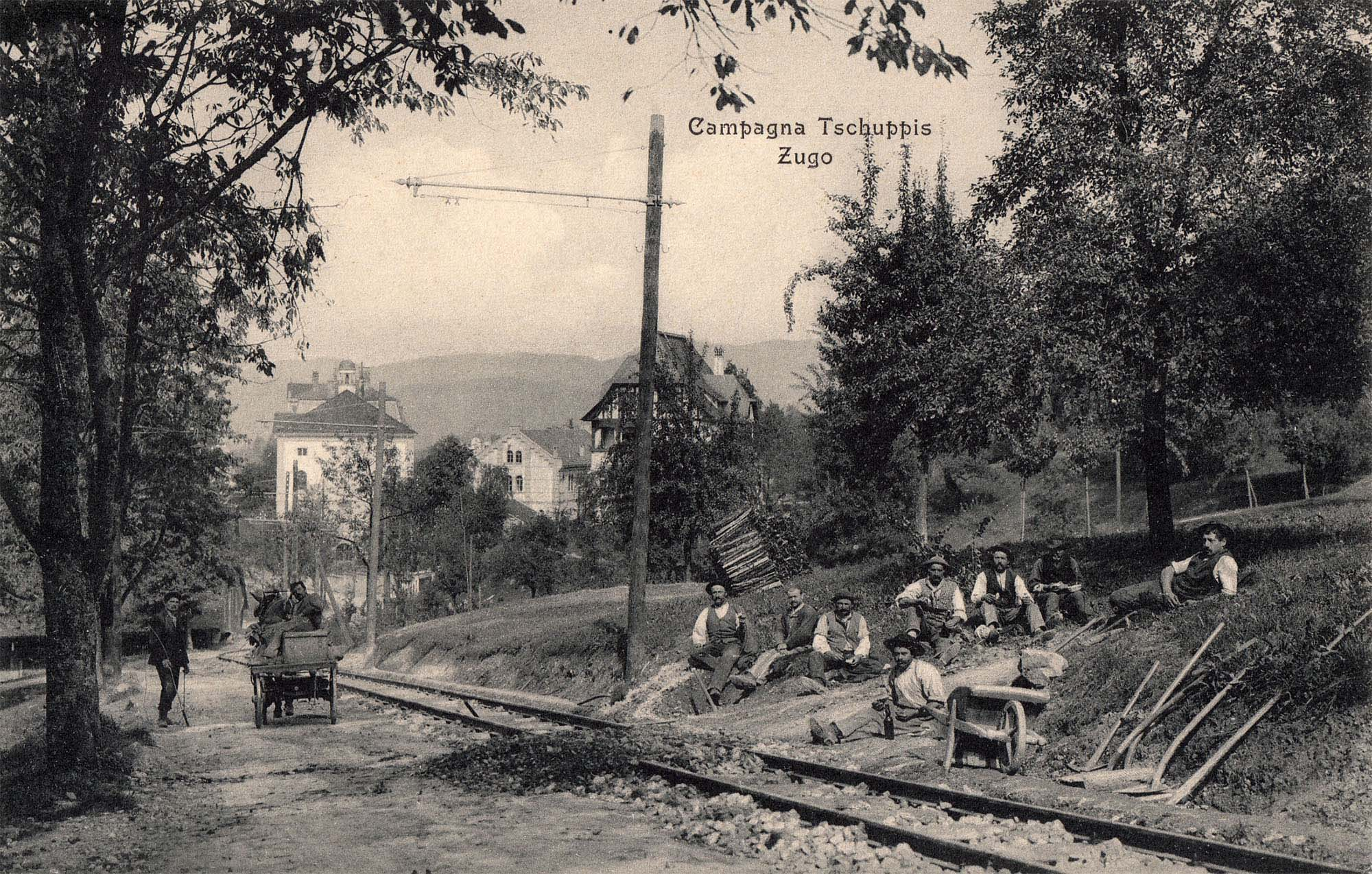 Gleisverlegung oberhalb St. Michael