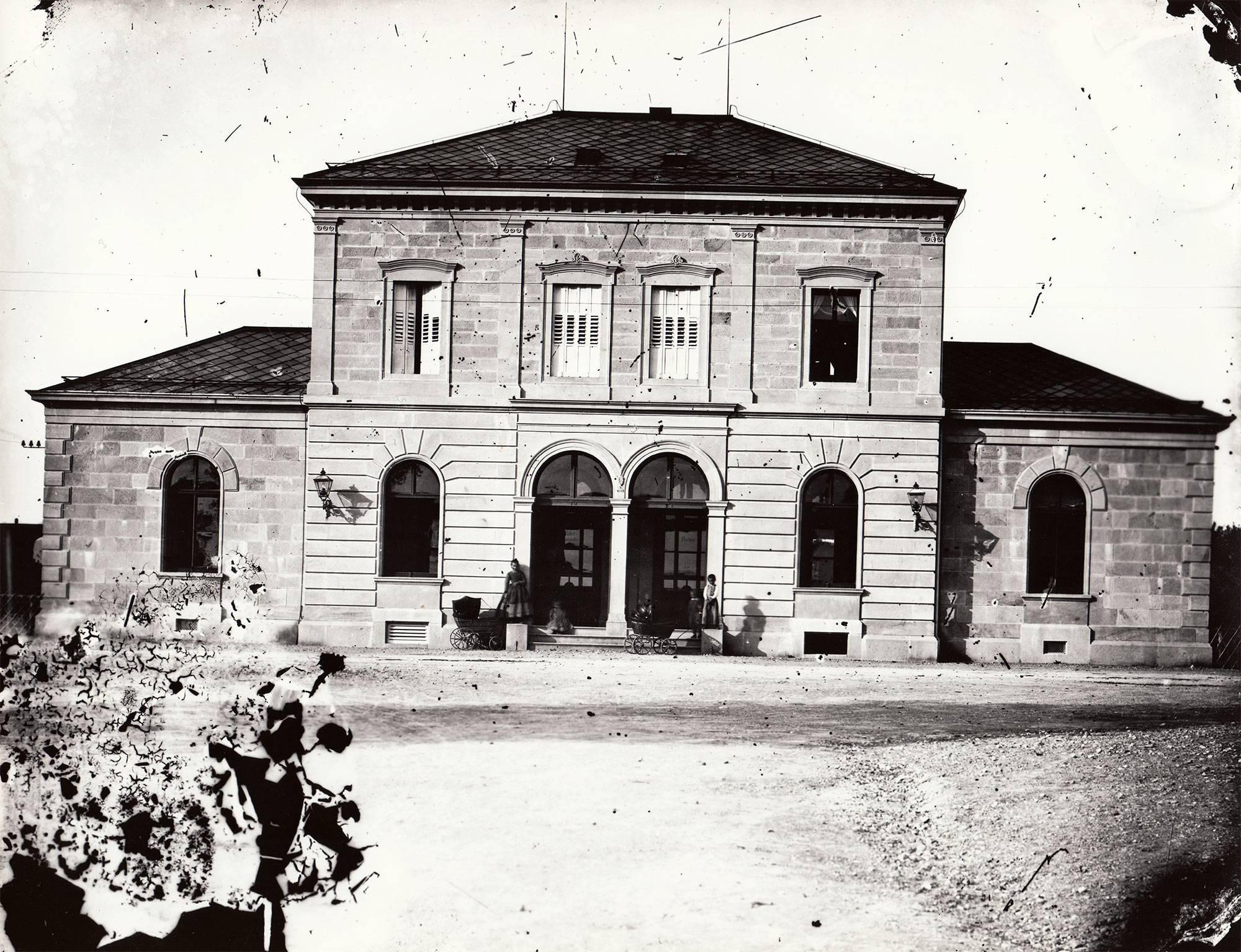 Erstes Bahnhofsgebäude Zug