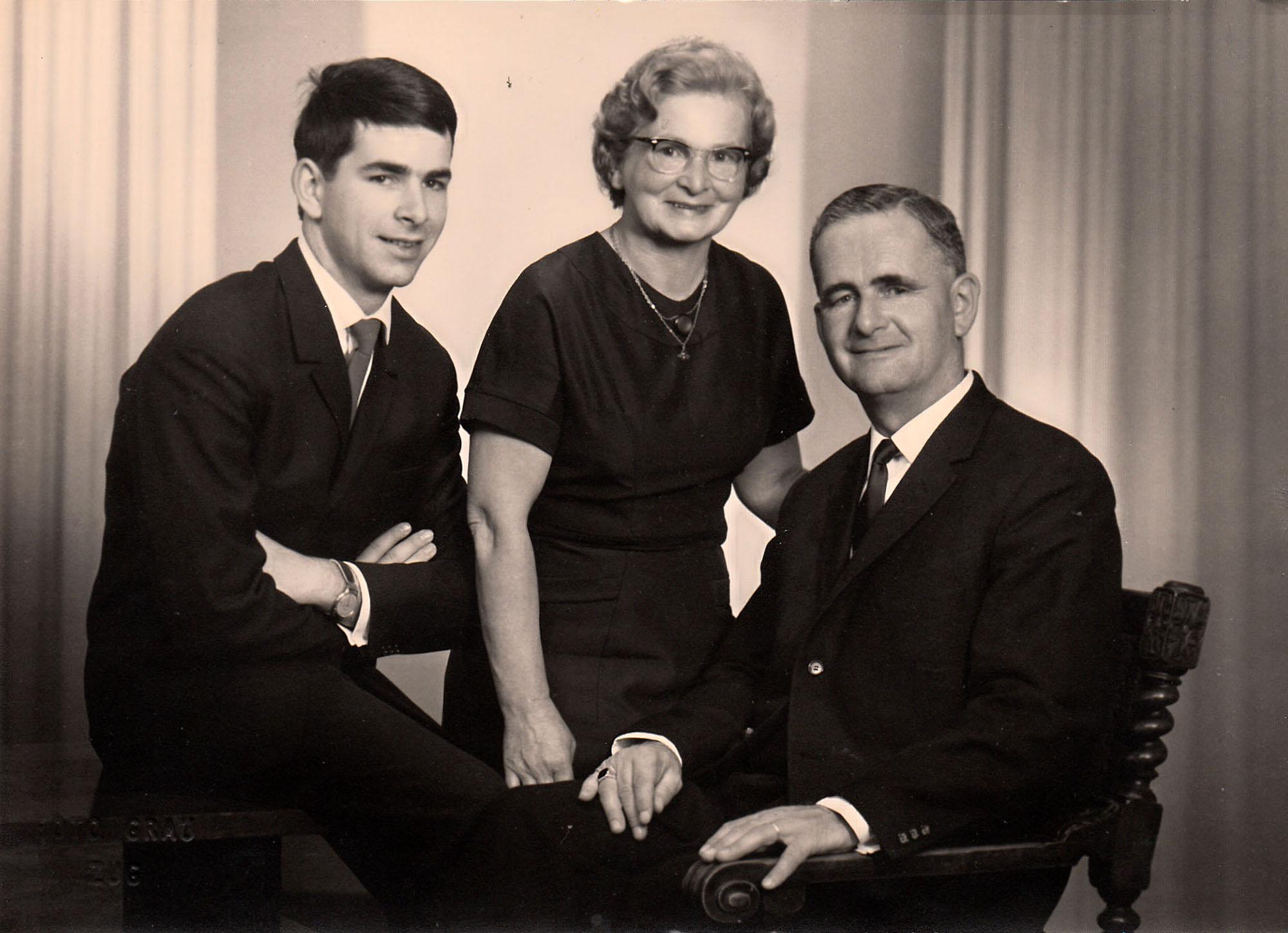 Albert Merz Familienfoto ca. 1960
