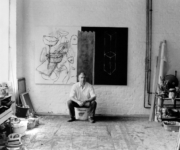 Albert Merz Im Atelier 1986